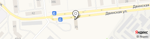 Магазин автозапчастей для ВАЗ на карте Новодвинска