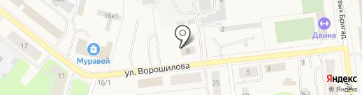 Алко shop на карте Новодвинска