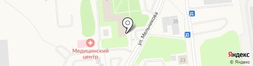 Архангельский целлюлозно-бумажный комбинат на карте Новодвинска