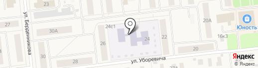 Детский сад №10, Веночек на карте Новодвинска