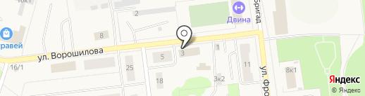 СТК на карте Новодвинска