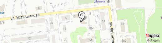 Автомастер на карте Новодвинска