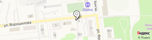 Газ-детали машин на карте Новодвинска