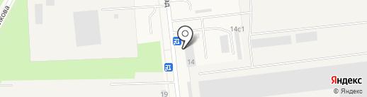 Новодвинская мебельная фабрика на карте Новодвинска