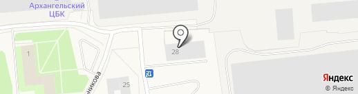 Лидер на карте Новодвинска