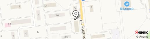 Контур на карте Новодвинска