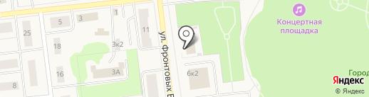 Мировые судьи г. Новодвинска на карте Новодвинска