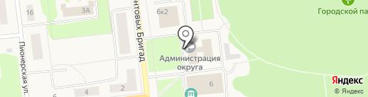 Отдел экономического развития на карте Новодвинска