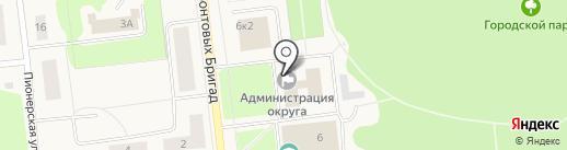 Администрация г. Новодвинска на карте Новодвинска