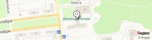 Дворец культуры на карте Новодвинска