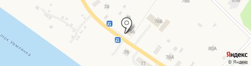 Придорожное на карте Уемского
