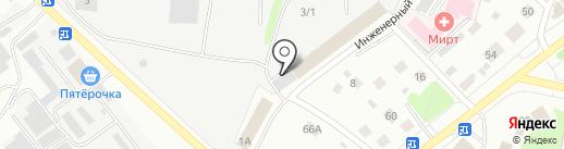 Дебриллс на карте Костромы