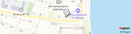 Льняная лавка на карте Костромы