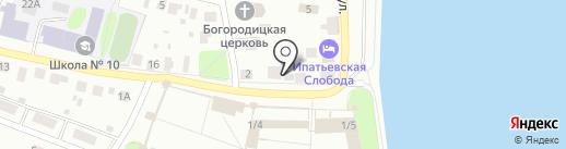 Магазин сувениров на карте Костромы