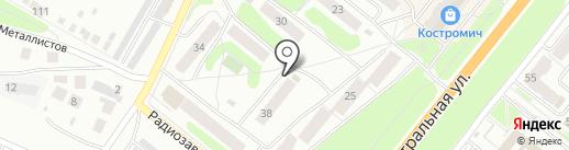 Янтарь на карте Костромы