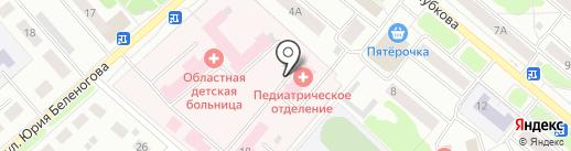 Костромская областная детская больница на карте Костромы