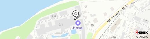 Искра на карте Костромы