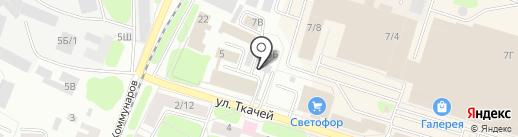 Лепилка на карте Костромы