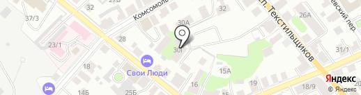 Гор.ком на карте Костромы