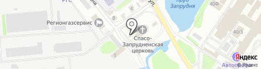 Свято-Запрудненская церковь на карте Костромы