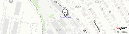 Соловей на карте Иваново