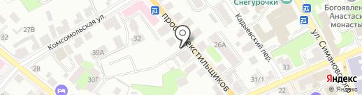 Акцент на карте Костромы