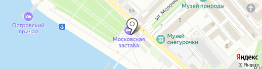 Московская Застава на карте Костромы