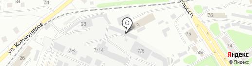 Кузнечный двор на карте Костромы