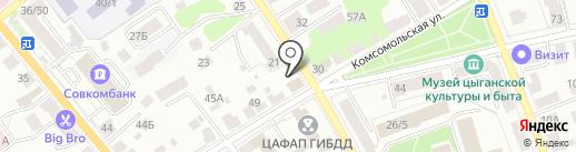 Автознак на карте Костромы