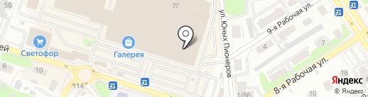 Палитра на карте Костромы