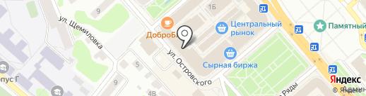 Магазин ткани на карте Костромы