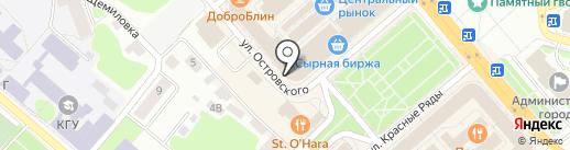 Хлеб от 100 метровки на карте Костромы