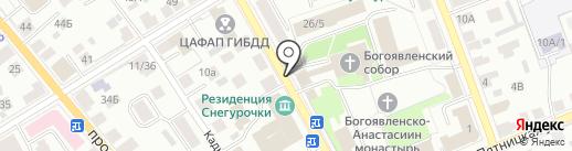 Богоявленско-Анастасиин кафедральный собор на карте Костромы