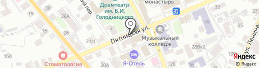 Микс на карте Костромы