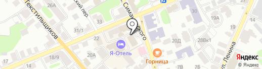 Светлоград на карте Костромы