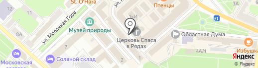 Церковь Спаса Нерукотворного на карте Костромы