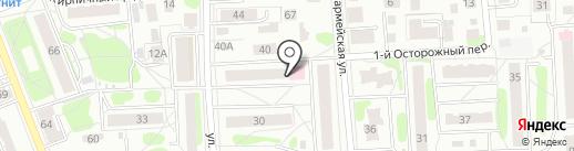 Этель на карте Костромы