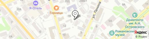 СЭД на карте Костромы