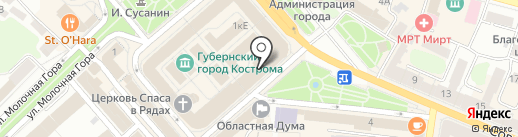 КАПИТАЛ-К на карте Костромы
