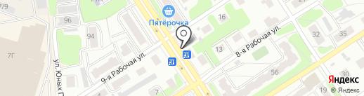 Мясной двор на карте Костромы
