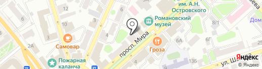 Hair studio Анастасии Скворцовой на карте Костромы