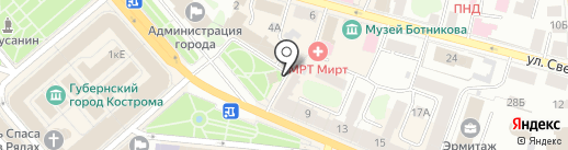 Путёвка Маркет на карте Костромы