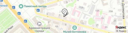 Доминанта на карте Костромы