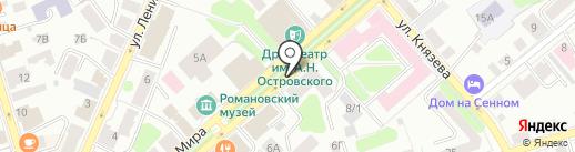 Адвокатский кабинет Макарова Э.В. и Макаровой И.А. на карте Костромы