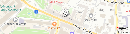 ЗНАМЕНКА на карте Костромы