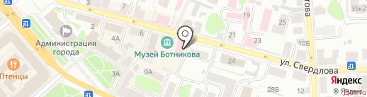 Нотариус Соколова Л.А. на карте Костромы