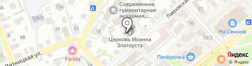 Иоанно-Златоустовская церковь на карте Костромы