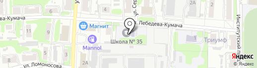 Средняя общеобразовательная школа №35 на карте Иваново