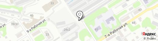 Гаражный кооператив №63 на карте Костромы