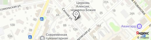 Глаголь на карте Костромы